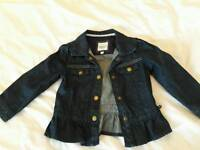 Girls Junior J denim jacket aged 2-3 years