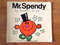 Mr Spendy (Vintage and very rare Mr Men book)