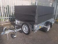 IFOR WILLIAMS TRAILER P6e FULLY CAGED IVOR WILLIAMS PLANT GARDEN MOTO X QUAD CAR FITTED COVER RAMP