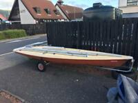 Laser dinghy sailing boat