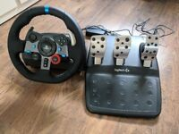 Logitech G29 wheel and pedals
