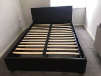 double leather otterman bed