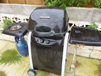 Char-Broil 2 Burner Gas BBQ with Gas Side Hob inc Gas Bottle