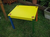 NEW!!! SUPER COOL KIDS CREATE ACTIVITY TABLE, HAND PAINTED, UNIQUE! BS16.