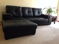 Nice Black Leather Sofa