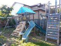 Play set- Complete Playground- Timber Bilt 'Swing and Slide