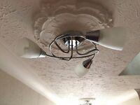 NEXT Chrome 3 light ceiling fitting