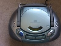 Panasonic portable stereo CD and tape system (RX-DX1) with remote