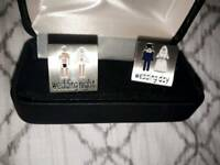 Novelty bridegroom cufflinks