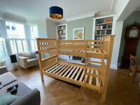 Pine Bunk Bed or Two Single Beds with Mattresses
