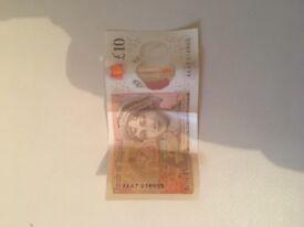 Ak47 £10 note