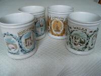Denby Cadbury Cameo Mugs - Set of 4