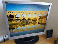 Acer 19 inch computer monitor screen