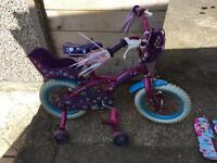 """14"""" Puppy bike with frozen protection pads"""