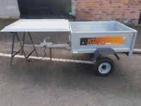 ERDE 102 GALVANISED TIPPER TRAILER WITH HARD COVER AND VINYL COVER
