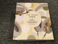 Stunning Ted Baker rockall high performance over ear headphones white/gold, apple compatible.