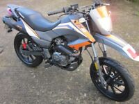 2012 (12) ONLY 2,000km - Keeway TX 125 Supermoto Motorcycle Motorbike - ONLY 2000km From New