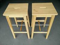 PAIR OF IKEA BAR STOOLS