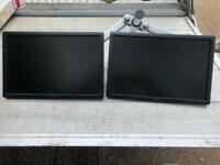 Twin Dell Monitors Model P1913b 19inch lcd
