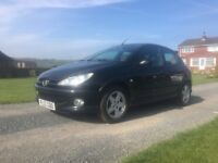 Peugeot 206 1.4 hdi Black £30 Road tax 12 month mot, full black Leather New cam belt