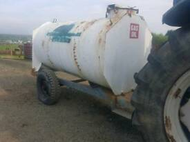 2000 litre bunded diesel bowser trailer with filling hose and nozzle