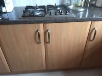 Kitchen Units, Cooker Hood, Gas Hob and Sink
