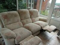 Quality Three Seater Recliner Sofa
