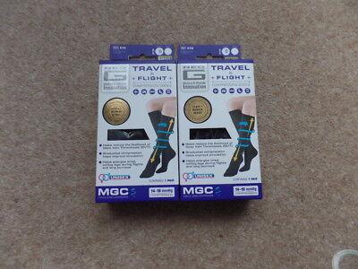 2x Neo G Travel & Flight Compression Socks Size: S UK 2-4 -EU 35-37,Unisex BLACK