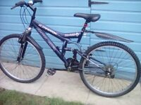 ABSOLUTELY EXCELLENT COND, DUAL SUSPENSION BIKE + M/GUARDS, LIGHTS & LOCK **FREE DELIVERY HULL**