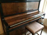 Ibach upright piano with Antique Barley Twist piano stool