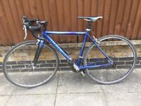 Treck racer bike 24 speed, Shimano Tiagra, carbon fork, size small, ladies or unisex