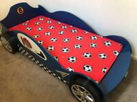 Single cars bed with mattress