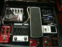 Various guitar pedals: Ehx, Tc electronic etc