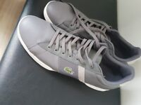 Size 11 lacoste grey trainers
