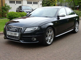 AUDI A4 3.0 S4 QUATTRO 4d AUTO 329 BHP 2 FORMER OWNERS (black) 2009