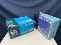 Alpine car stereo head unit and cd changer unused