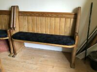 AUTHENTIC CHURCH PEWS monks bench BELFAST NEWCASTLE can meet deliver oak & pitch pine