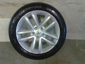 ALLOYS X 4 OF 17 INCH VAUXHALL/VECTRA/C/SRI/FULLY POWDERCOATED IN A STUNNING SILVER SPARKLE NICE JOB