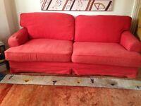 Ikea sofa Ekeskog 4 seater (also single bed sofa bed). Colour - rusty red