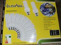 12 ENERGY SAVING LIGHT BULBS (Brand New & Boxed)