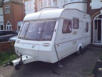 Abby 5 berth caravan in good condition no damp