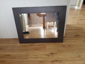 Leather surround mirror