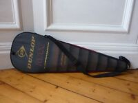 Dunlop graphite squash raquet with carrying case - hardly used