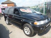Mitsubishi SHOGUN SPORT Equipppe TD,2477 cc 4x4,FSH,full MOT,sunroof,side steps,tow bar fitted