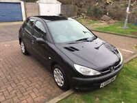 2004 Peugeot 206 1.4 8v S 5dr (a/c) Automatic Low Mileage @ 07445775115 @ 07725982426@