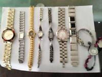 Various Watches including 2 Armarni and a Maroon
