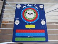 TELL THE TIME CLOCK BOARD/TOYS