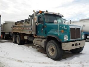 2001 International Paystar 15' Gravel Truck & Pup Trailer