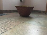 Antique victorian bread making bowl
