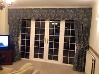 Large picture window curtains with pelmet, manufactured by Villanova